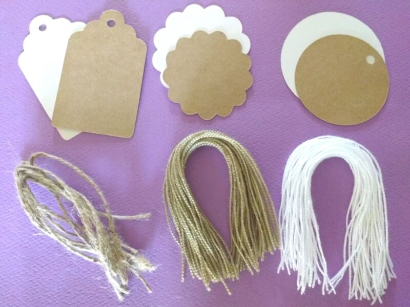 Blank Kraft Paper Tags Wedding Party Favor Birthday Label Price Gift Card