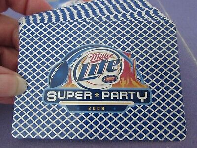 NEW/box & shrink wrap unused 2008 Miller Lite SUPER PARTY deck of playing cards