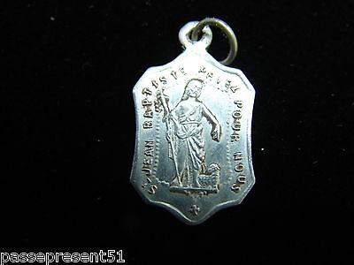 Jolie Antique Medal, Saint Jean Baptiste, Large Forgiveness Chaumont, Foil