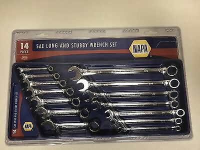 Napa 14 Pc SAE Long And Stubby Wrench Set 90962