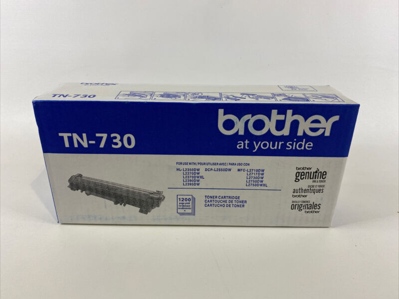NEW Brother TN730 Genuine Black Toner Cartridge