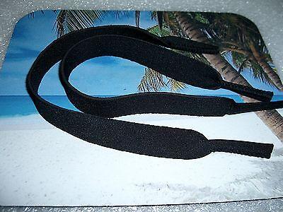 2 PAIR BLACK NEOPRENE SUNGLASSES / EYEGLASSES LANYARDS NECK (Neoprene Eyeglass Strap)