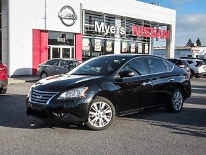 2014 Nissan Sentra SL, NAVIGATION, LEATHER, SUNROOF, BACK UP CAM