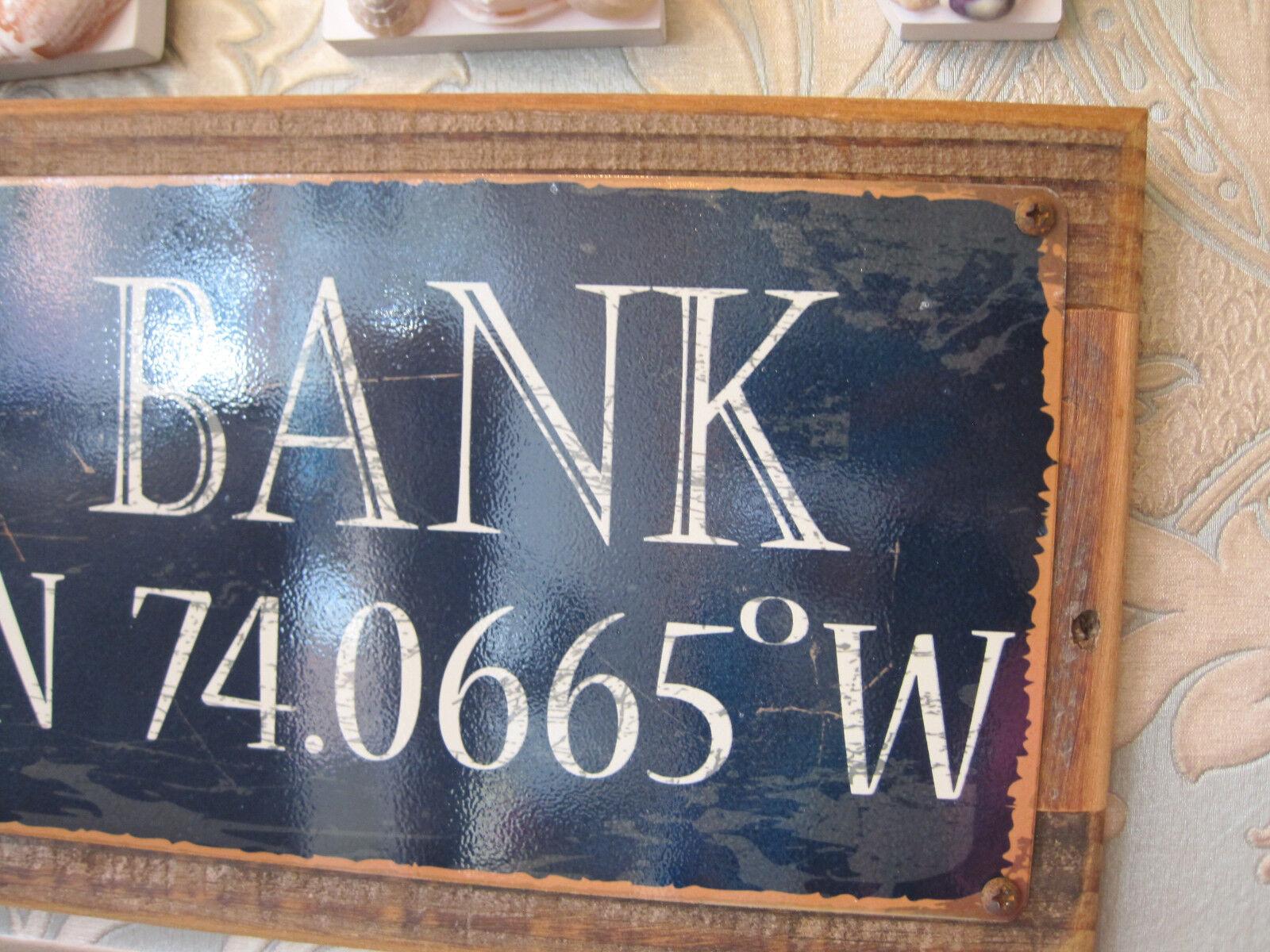 Red Bank Sign Custom Wooden Sign Beach Decor Coastal Home Decor Nj 3 3 Of 4