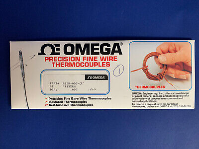 Omega Fine Wire Thermocouple P13r-005 Type R .005 Thick 12 Long New