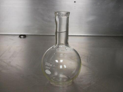 LOT OF (3)  300 mL Flat-bottom Boiling flask Florence Flask Kimble KIMAX USA