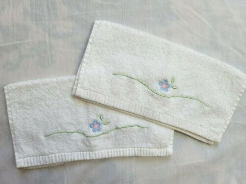 2 Pottery Barn Kids Blue Floral Washcloth Bath Set Cotton Baby 2 Sets Available