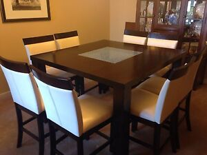 Pub Height Dining Room Set for 8