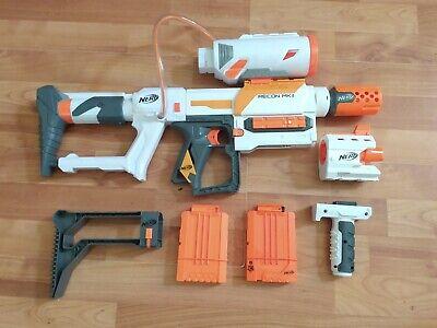Nerf Modulus Recon MK2 Blaster White Orange attachments clips shoulder stock