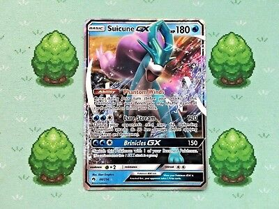 Pokemon - Suicune GX - 60/214 - SM Lost Thunder - Half Art
