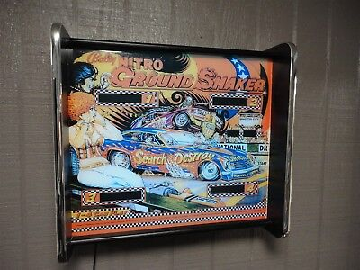 Bally Nitro Ground Shaker Pinball Head LED Display light box