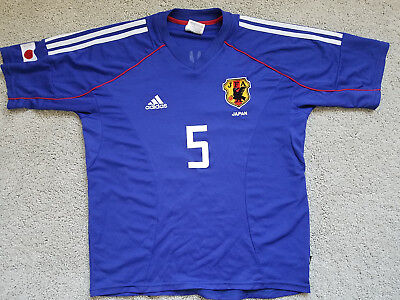 8ae6ddb54 Classic Adidas 2002 World Cup Japan Home Jersey Soccer Kit Inamoto Size M