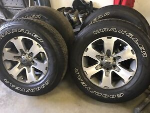 F150 FX4 wheels and GoodYear with TPMS sensor.