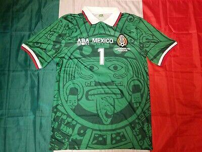 bb002a4b7 ABA Sport Mexico 1998 JORGE CAMPOS  1 Green Retro Jersey Size M