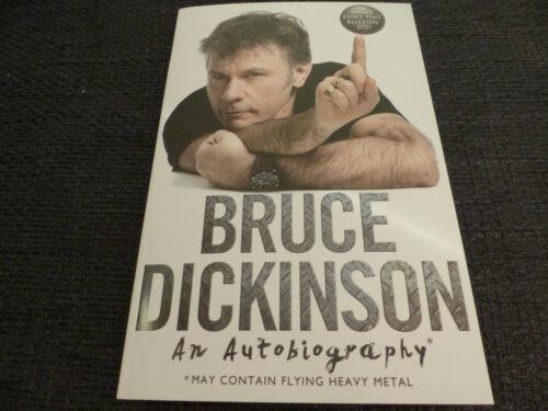 BRUCE DICKINSON signiert Autogramm An Autobiography Buch InPerson IRON MAIDEN