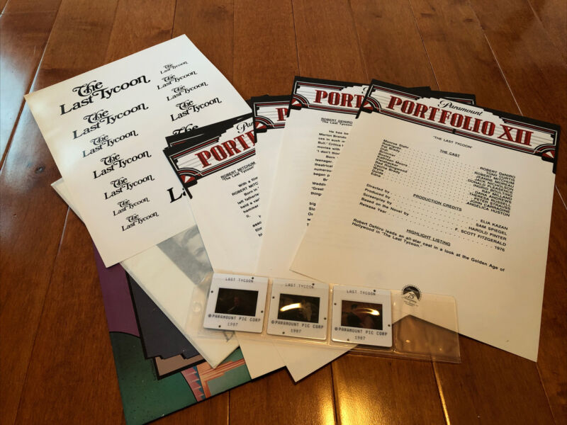 The Last Tycoon - Movie Press Kit w/ photos And Slides - De Niro - Nicholson