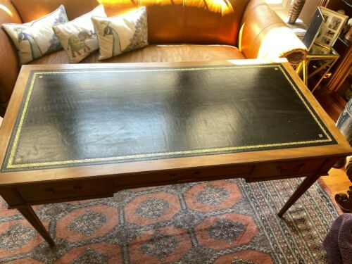 Baker leather topped desk