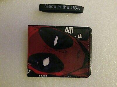 "NWT Marvel Comics DEADPOOL ""BLAH BLAH BLAH"" Bifold Wallet by Buckle Down USA"
