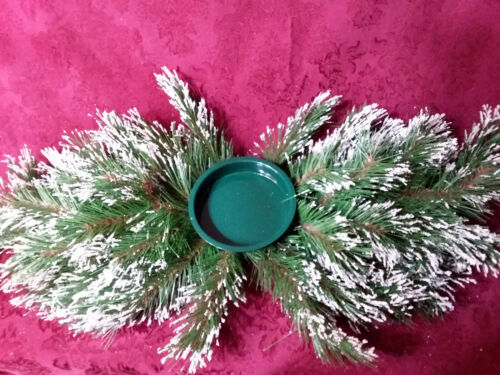 Home Interiors Christmas Snowy Pine Centerpiece/ New/ Free Shipping