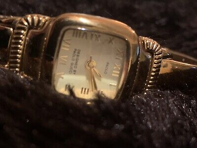 Vintage Gucci L Ladies 18k Gold Plated Swiss Bangle Style 3J Wrist Watch W63