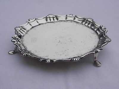 GEORGE III SOLID SILVER CARD TRAY LONDON 1787 PETER CARTER