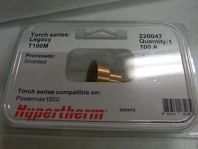 Hypertherm 100 Amp Nozzle Shield For Plasma Torch Powermax 1650 Qty 2 220047