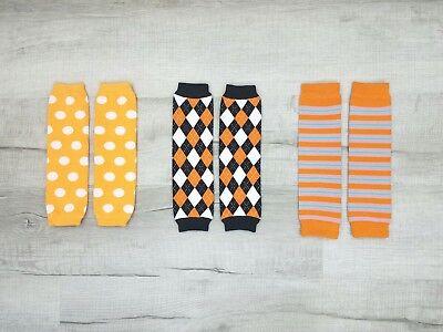 3 Options! *Halloween & Autumn* Leg Warmers / Arm Warmers Unisex Baby & Toddler ](Halloween Leg Warmers)