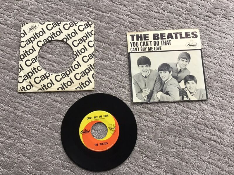 THE BEATLES CAN'T BUY ME LOVE 45rpm WITH ORIGINAL SLEEVE