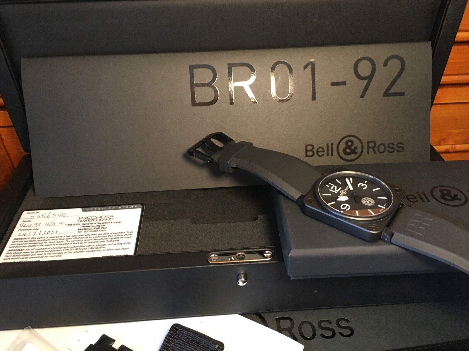 BELL & ROSS BR01-92 CE Ceramic Case Automatic 46mm 10th Anniversary Watch - watch picture 1