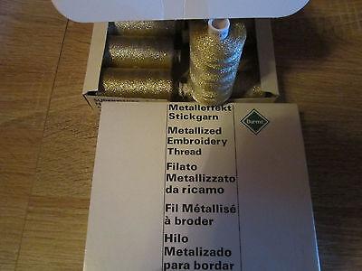 (0,46 € /100m )    1 Rolle 1000 m Marken Stickgarn Metalleffekt Gold  No 30 (G1