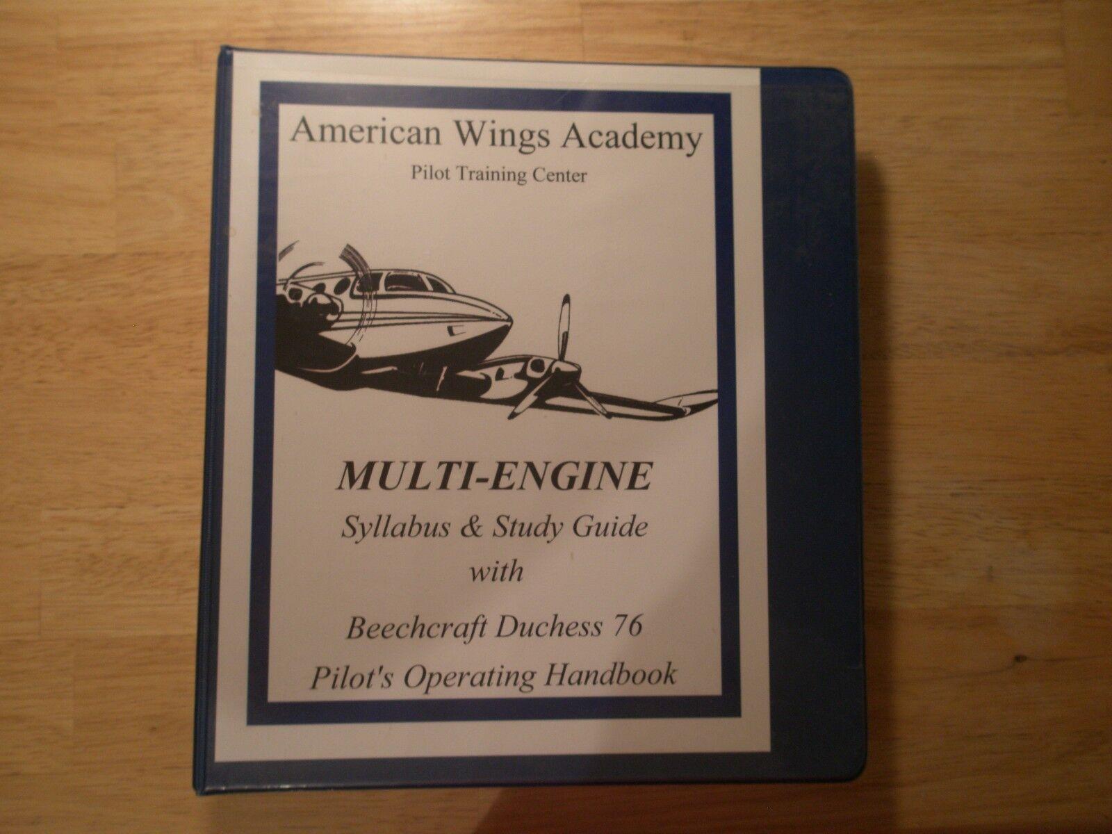 Beechcraft Duchess 76 Pilot's Operating Handbook Flight Manual