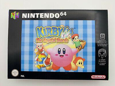 Caja Box repro Nintendo 64 N64 Kirby Crystal Shards PAL EUR Solo Caja Box only