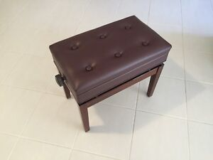 Piano Stool | Height Adjustable | Walnut polished | New In Box Canning Vale Canning Area Preview
