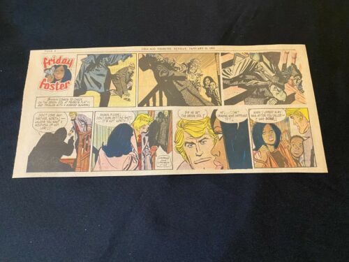 #01 FRIDAY FOSTER by James Lawrence Sunday Third Page Strip January 21, 1973