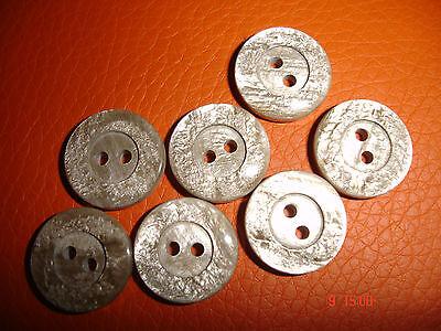 10 Knöpfe graubeige schillernd 15mm 2-Loch W41.14