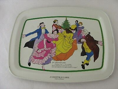 A Christmas Carol Charles Dickens Vintage Dinner Tray Small Holiday ()