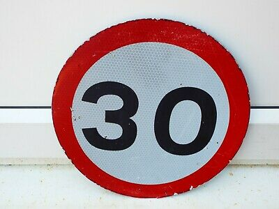 Genuine Retired 30  th Birthday Sign old  roadsign  Man Cave.Can Be Written On