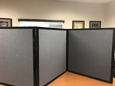 3 Ft Tall 3 Panel Tabletop Displayprivacy Screenpartition Wfh Or E-learning