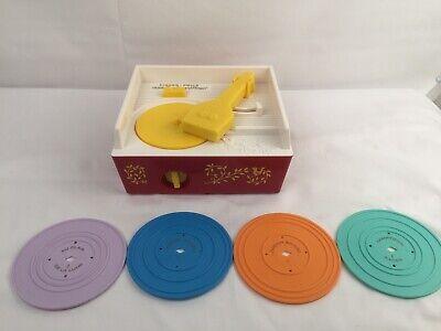 Retro Fisher Price MUSIC BOX RECORD PLAYER 2010 Replica  4 RECORDS
