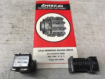American Letterpress Numbering Machines With Original Brochure
