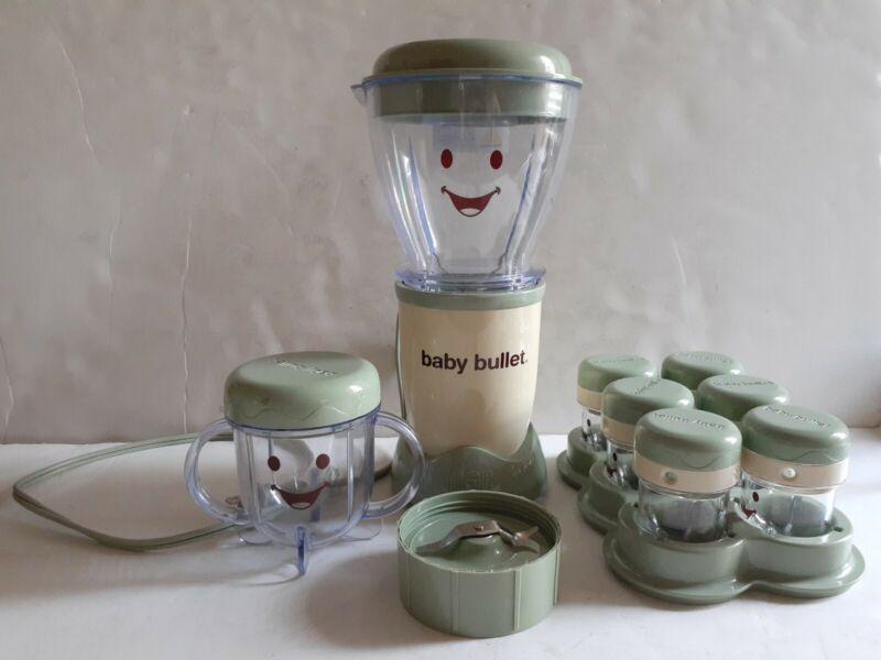 Baby Bullet Magic Bullet Food Blender Set BB101S w Extra Blade & 6 Mini Cups