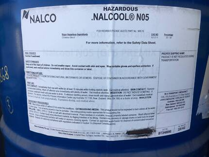 Brand New Nalcool No 5 Premix Coolant - 205L Drum