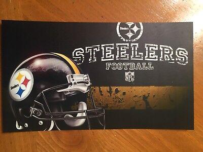 Tin Sign Vintage Pittsburgh Steelers NFL 4