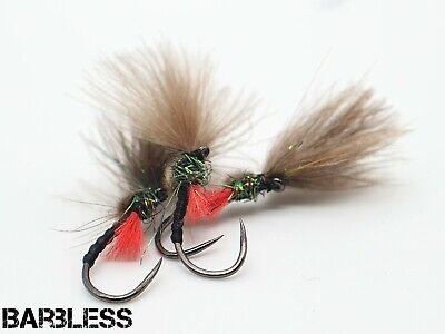 3 x Skinny Buzzer Brown size 12 trout fishing flies by Salmoflies