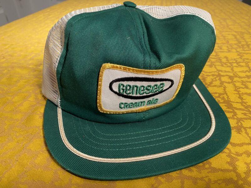 Vintage Genesee Cream Ale Trucker Snapback Swingster Hat Made In USA Beer