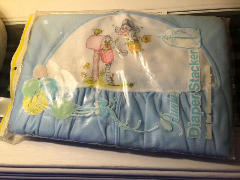 Vintage Light Blue Diaper Stacker