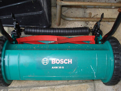 BOSCH MANUAL PUSH  LAWN MOWER AHM 38G ~ USED ONCE!