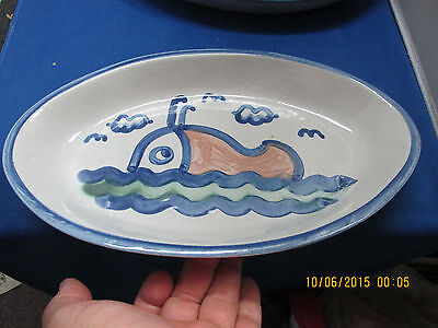 "M. A. HADLEY  Whale  11"" Chip / Snack Dish  Great Piece  No Reserve"