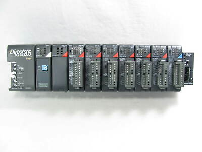 Automation Direct Directlogic 205 Loaded Rack D2-cm And Io Modules Nice
