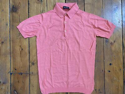 Mens JOHN SMEDLEY polo shirt size M made in Britain top t-shirt